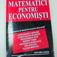 MATEMATICI PENTRU ECONOMISTI BUCURESTI 2003-DR.GHEORGHE CENUSA - Carte Marketing