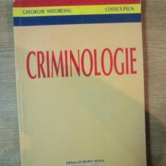 CRIMINOLOGIE de GHEORGHE NISTOREANU, COSTICA PAUN, EDITIE REVAZUTA SI ADAUGITA 1996