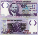 MOZAMBIC 20 meticais 2011 polymer UNC!!!