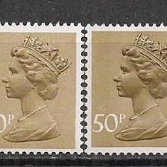 Anglia.1977 Regina Elisabeth II hartie normala+fosforescenta CA.346 - Timbre straine