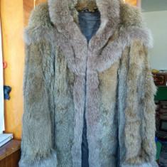 Haina din blana naturala de enot marimea 38, este noua, adusa din Germania! - haina de blana