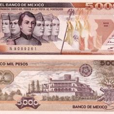 MEXIC 5.000 pesos 1987 P-88b UNC!!!