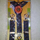 Bretele elastice pentru copii cu model frumos floricica