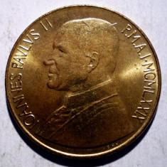 A.171 VATICAN PAPA IOAN PAUL II PAX 200 LIRE 1979 AUNC, Europa, Bronz-Aluminiu