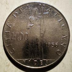 1.125 VATICAN PAPA PIUS XII FIDES 100 LIRE 1956, Europa