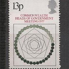 Anglia.1977 Conferinta Commonwealth CA.350 - Timbre straine, Nestampilat