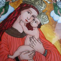 Icoana pictata pe sticla, Sfanta Maria cu Pruncul - Icoana pe sticla