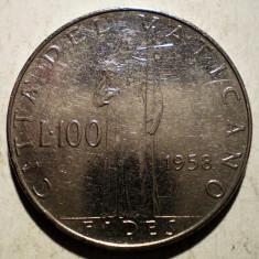 1.121 VATICAN PAPA PIUS XII FIDES 100 LIRE 1958, Europa