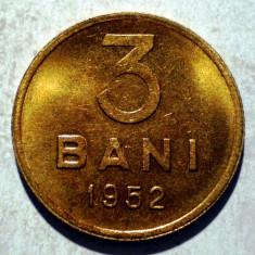 R.006 ROMANIA RPR 3 BANI 1952 XF/AUNC