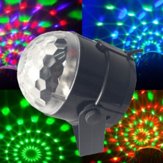 NOU 2015! SCANNER LUMINI DISCO CU LEDURI SMD ULTIMA GENERATIE SI ACTIVARE LA SUNET, MAGIC BALL LED DISCO.PT.CLUB, DISCO, ACASA. - Efecte lumini club