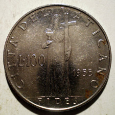 1.128 VATICAN PAPA PIUS XII FIDES 100 LIRE 1955, Europa
