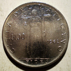 1.126 VATICAN PAPA IOAN XXIII FIDES 100 LIRE 1962, Europa