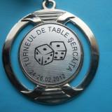 HOPCT ROMANIA MEDALIE SPORTIVA TURNEUL DE TABLE SERCAITA 24-26.02 2012 LOCUL 3 / - D= 50 MM - Medalii Romania