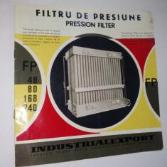 Pliant - prezentare Filtru de Presiune, anii '60