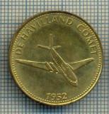 JETON 53 PENTRU COLECTIONARI - DE HAVILLAND COMET -1952 - AVION -TEMATICA AVIATIE- SHELL -STAREA CARE SE VEDE