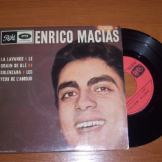 ENRICO MACIAS disc vinil single EP vinyl pickup pick-up - Muzica Pop emi records