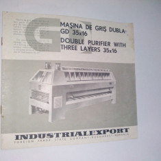 Pliant - prezentare Masina de gris dubla GD 35 x 16,  anii '70