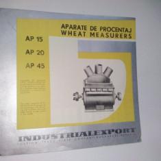 Pliant - prezentare Aparate de Procentaj ( folosite in industria de panificatie si morarit),  anii '60