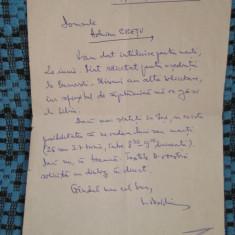 Scrisoare LUCIAN VASILIU - 19 iunie 2000, Iasi - Autograf