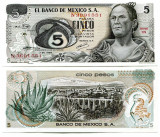 MEXICO 5 PESOS  1969 -  UNC