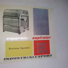 Pliant - prezentare Separator Aspirator,   anii '60