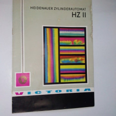 Pliant - prezentare Utilaj Poligrafic cu cilindru automat,  anii '60