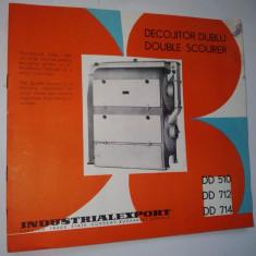 Pliant - prezentare Decojitor Dublu ( folosit in industria de morarit), anii '60
