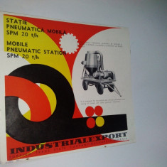 Pliant - prezentare Statie Pneumatica Mobila SPM 20 t/h,  anii '70