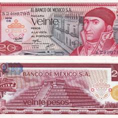 MEXIC 20 pesos 1976 UNC!!! - bancnota america