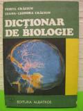 DICTIONAR DE BIOLOGIE   de TEOFIL CRACIUN ,  Editura ALBATROS  1989 ,  COPERTI CARTONATE, stare foarte buna