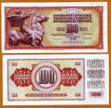 Iugoslavia 100 Dinara 1986 - UNC