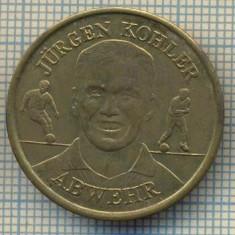 JETON 14 PENTRU COLECTIONARI - JURGEN KOHLER - ABWEHR(APARATOR) - FOTBAL -BV BORUSSIA DORTMUND- GERMANIA -STAREA CARE SE VEDE