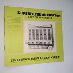 Pliant - prezentare Superfiltruaspirator ( folosit in industria de morarit si panificatie),  anii '70