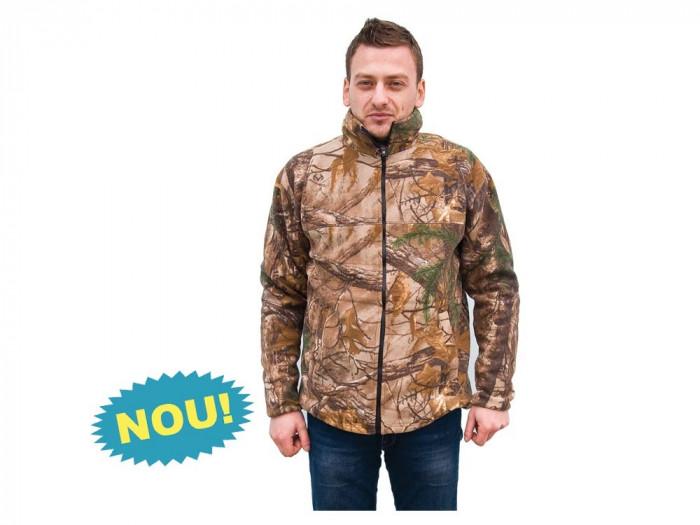 Jacheta Browning fleece camuflaj