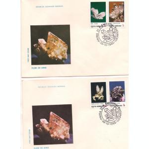 FDC(L.P.1143)--Romania-Flori de mina-Prima zi-deparaiate