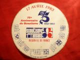 Sticker - Eticheta Reclama- 75 Ani Scoutism 1983 -Regiunea Ile de France