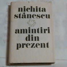 NICHITA STANESCU - AMINTIRI DIN PREZENT - Studiu literar
