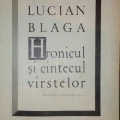 HRONICUL SI CANTECUL VARSTELOR-LUCIAN BLAGA - Roman