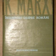 Insemnari despre romani K.Marx - Istorie