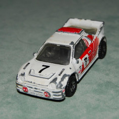 Macheta / jucarie Masinuta Hot Wheels de metal MATCHBOX FORD RS 200, 1986, 7 cm