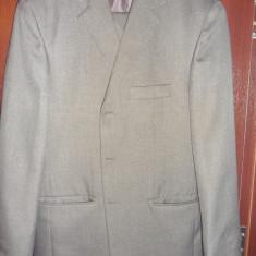 Costum barbatesc - Costum barbati, Marime: 46, Culoare: Maro, 3 nasturi, Marime sacou: 46, Normal