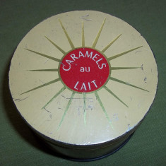 Cutie metalica caramels au lait E. Bonneru Carpetrans - Cutie Reclama