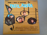 PAUL ANKA - SONGS I WISH I'D WRITTEN  (1970/RCA  REC/ UK ) - VINIL/PICK-UP/VINYL, rca records