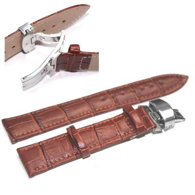 Curea ceas piele maro deployant curea pentru ceas curele de ceas 20mm foto