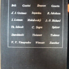 POETICA SI STILISTICA - ORIENTARI MODERNE - PROLEGOMENE SI ANTOLOGIE MIHAIL NASTA SI SORIN ALEXANDRESCU- BUC. 1972