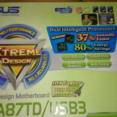 Placa de baza ASUS M4A87TD/USB3, Chipset AMD 870G,, sound 5.1, RAID, DDR3, SATA3 socket AM3, Pentru AMD, ATX