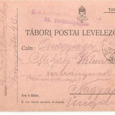 CPI (B4714) TABORI POSTAI LEVELEZOLAP, CARTE POSTALA MILITARA, KUK, WW1, UNGARIA, AUSTRIA, AUSTRO-UNGARIA, 30.dec.1915, MILITAR, RAZBOI, ARMATA - Carte Postala Transilvania 1904-1918, Circulata, Printata