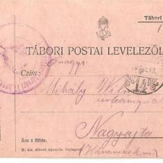 CPI (B4701) TABORI POSTAI LEVELEZOLAP, CARTE POSTALA MILITARA, KUK, WW1, UNGARIA, AUSTRIA, 19.APR.1916, MILITAR, RAZBOI - Carte Postala Transilvania 1904-1918, Circulata, Printata