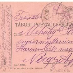 CPI (B4720) TABORI POSTAI LEVELEZOLAP, CARTE POSTALA MILITARA, KUK, WW1, UNGARIA, AUSTRIA, AUSTRO-UNGARIA, 17.iun.1917, MILITAR, RAZBOI, ARMATA - Carte Postala Transilvania 1904-1918, Circulata, Printata