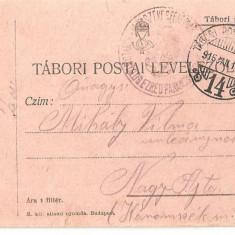 CPI (B4709) TABORI POSTAI LEVELEZOLAP, CARTE POSTALA MILITARA, KUK, WW1, UNGARIA, AUSTRIA, AUSTRO-UNGARIA, 12.ian.1916, MILITAR, RAZBOI, ARMATA - Carte Postala Transilvania 1904-1918, Circulata, Printata